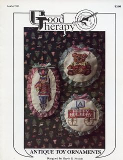 Antique Toy Ornaments Soldier Bear Cross Stitch Pattern