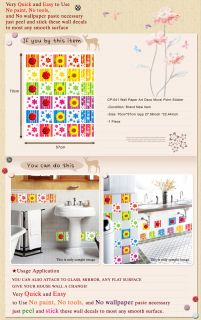 CP 041 Square Pattern Wall Art Deco Mural Point Sticker