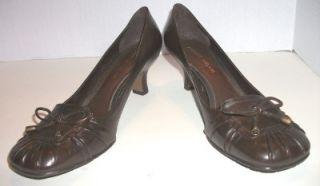 Antonio Melani Dark Chocolate Brown Low Heel Pumps Shoes 9M 9 M