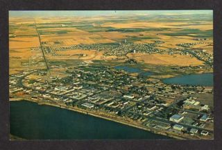 Aerial view Moses Lake WASHINGTON Postcard nr Larson Air Force Base PC