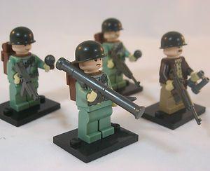 LEGO US Army INFANTRY SOLDIER Marine Corps USMC WW2 Military Figure