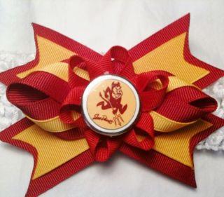 Arizona State Sun Devils Hair Bow on Headband Baby NCAA