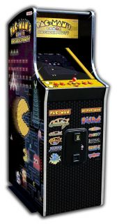 Pac Man Arcade Party Upright Video Game Machine, from Brookstone