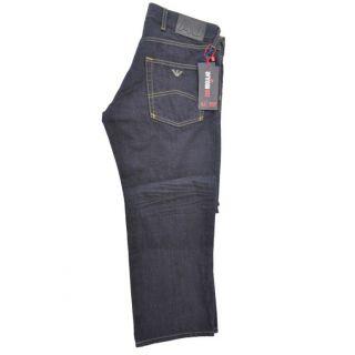 Armani Jeans J25 Dark Blue Regular Fit Jeans US 33 EU 49
