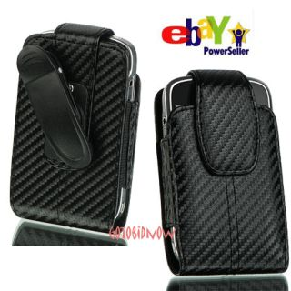 Apple iPhone 4S 4G 4 Carbon Fiber Fabric V Leather Pouch Case Phone