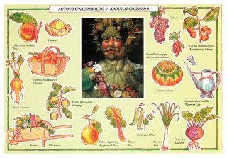 Vertumnus and Vegetables by Giuseppe Arcimboldo Art Postcard
