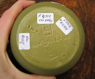 Superb Antique Van Briggle Art Pottery 1903 Vase F9712