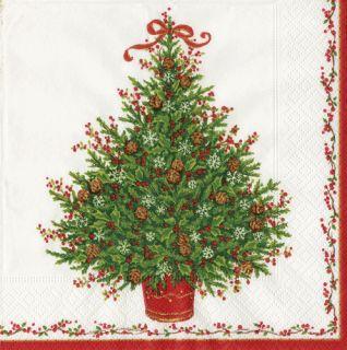 CASPARI 2 / 20ct Pkgs Oh Christmas Tree Holiday Cocktail Paper