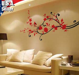 Wall Decor Art Vinyl Removable Mural Decal Sticker Cherry Blossom