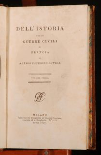 he Classici Ialiani ediion of Davilas hisorical work on he