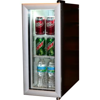 Compact Beverage Display Cooler Refrigerator Commercial Glass Door