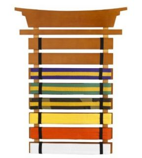 KidKraft Wooden Martial Arts Achievement Belt Display Holder 14245