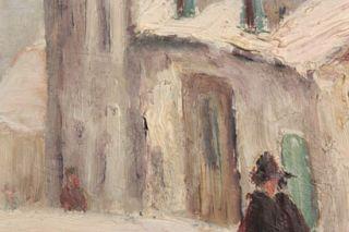Old Oil Panting Mimi Prinson House Maurice Utrillo