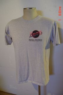 Roadies Arvada Colorado Harley Davidson Gray Red Black T Shirt Sz L