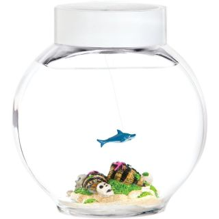 Electronic Pet Fish Swimming Shark w Color Change LED Light
