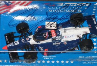 Arie Luyendyk Autographed 28 Indy Car 1994 Lola T Chevy Very RARE