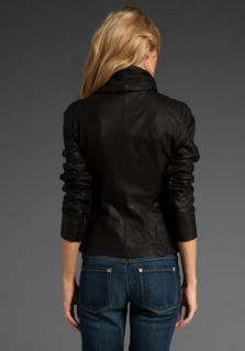 SCUBA LEATHER ASSYMETRICAL JACKET L $1250   ASHLEY GREENE (TWILIGHT