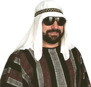 Sheik Costume Headpiece Desert Prince Arab Arabian Sultan Hat