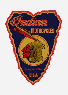 Indian Motorcycle 2x3 Vintage Vinyl Sticker Decal BLR