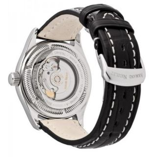 Armand Nicolet M02 Mechanical Automatic Mens Sapphire Crystal Black