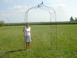 Extra Large Wrought Iron Garden Arbor Arch Trellis