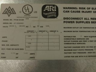 Aspen 3 Ton FFC Series Ceiling Mount Electric Heat DX Cool Air Handler