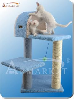 Armarkat Sky Blue Cat Furniture Tower Pet Tree Condo 4 Level B2903