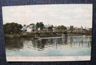 Emory Street Bridge Wesley Lake Asbury Park NJ Postcard