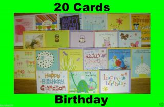 Lot (20) New Assorted Hallmark Birthday Greeting Cards Envelopes Kids