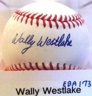 WALLY WESTLAKE SIGNED MLB BASEBALL COMES WITH COA