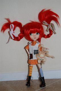 Custom Pullip Doll Pippi Longstocking NIB OOAK One of a Kind Whimsical