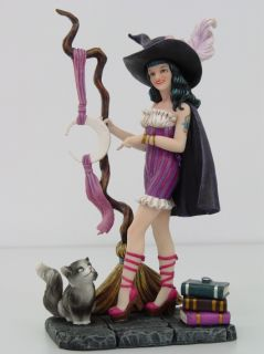 BRIGID ASHWOOD WITCH.THE PERFECT SPELL CAT STATUE FIGURINE.WITCHEN