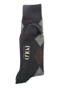 Ralph Lauren New Navy Argyle Knee High Dress Socks 10 13 BHFO