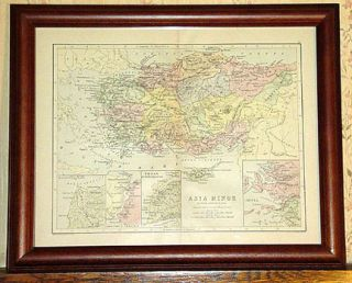 Asia Minor Authentic Antique Map in Latin Genuine 116 Years Old Made