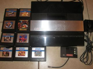 Atari 5200 4 Port Console System 1982 9 Games