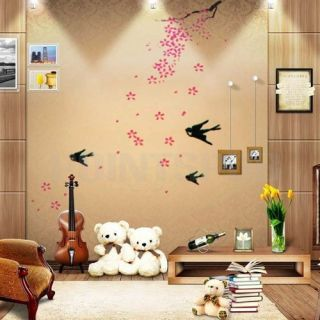 Removable PVC Window Door Art Wall Paper Mural Decal Sticker