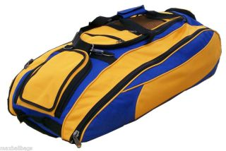 Royal Athletic Gold Softball Bat Equipment Roller Bag