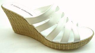 athena alexander women s fany sandal white size 11 m