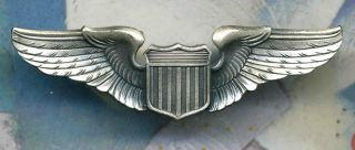 Army Air Corps Pilot Wings Air Force Aviator Badge Insignia Pin