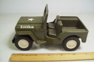 Vintage Tonka Truck Military Army Jeep Toy