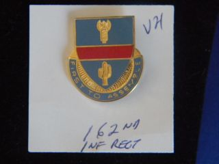 US Army 162nd Infantry military Unit insignia crest pin V 21