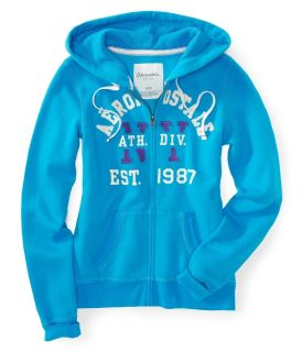 Aeropostale Womens Aero Athletic Div Full Zip Hoodie