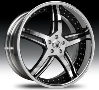 24 asanti AF162 Black Chrome Wheels Rims 3 Piece