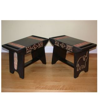 Sese Wood Ashanti All Purpose Stool Ghana Mask Style