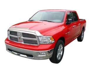 Dodge RAM Chrome Hood Shield Bug Guard Trim 2009 2011