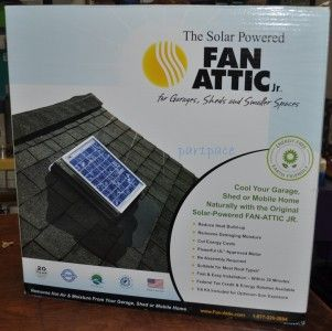 New Solar Powered Attic Fan Jr Garage Shed Mobile Home