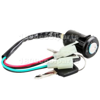 Ignition Key Switch ATVs Dirt Bike 4 Wheeler Kazuma Sunl Tao Tao