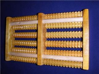 New Large Asian Massage Tool for Back Legs etc Wood Bamboo 100 Natural
