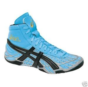 Mens Asics Dan Gable Wrestling Shoes Blue Blk Size 9 12