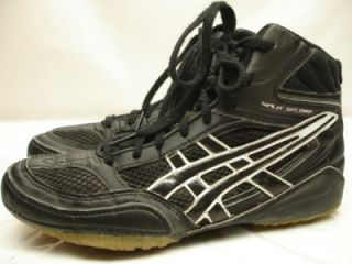 Boys Youth Asics JY601 Split Second VI Wrestling Shoes Sneakers Black